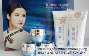 Bộ mỹ phẩm trắng da, trị nám, tàn nhang Nurse Face Ngọc Trai 5in1