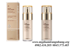 KEM NỀN THE FACE SHOP GOLD COLLAGEN AMPOULE FOUNDATION SPF 30