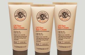 Kem chống nắng cho da dầu và mụn Oil Free Sun Cream THE FACE SHOP