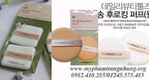 Bông đánh Phấn nén- Phấn nước- Phấn bột The Face Shop