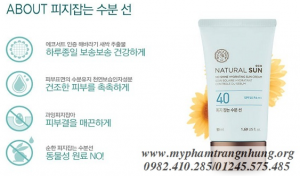 Kem chống nắng Natural Sun No Shine Hydrating Sun Cream SPF40 PA+++ Thefaceshop
