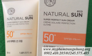 Kem chống nắng Natural Sun Super Perfect Sun Cream Thefaceshop SPF 50+ PA+++