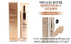 Kem nền Gold Collagen Ampoule Foundation Thefaceshop