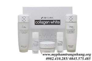 Bộ Dưỡng Trắng Da Whitening Collagen 3W Clinic