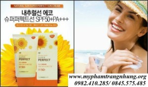 Kem chống nắng  Super Perfect Sun Cream SPF 50, PA+++ The Face Shop
