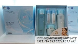 Bộ mỹ phẩm dưỡng ẩm,trắng da 3W CLINIC Excellent White Skin Care 3 Set