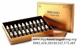 Bộ tinh chất chống lão hóa Serum Bergamo Luxury Gold Collagen & Caviar