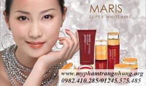 Bộ mỹ phẩm trị nám, tàn nhang, làm trắng da MARIS 6in1- Nhật Bản