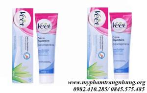 Kem tẩy lông cho da nhạy cảm Veet Silk Fresh Pháp