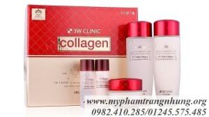 Bộ Dưỡng Da Toàn Diện Collagen 3W Clinic Đỏ
