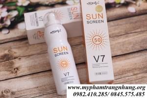 Xịt chống nắng Sun Screen V7 SPF50