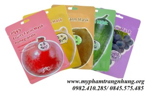 Mặt nạ hoa quả RainBow fruit farm mask pack Hàn Quốc.