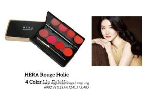 Bảng Son Lì 4 Màu Siêu Mịn Hera Rouge Holic