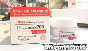 KEM DƯỠNG DA ANGEL'S LIQUID 7DAY WHITENING PROGRAM GLUTATHIONE 700 V-CREAM