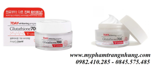 KEM DƯỠNG DA  7DAY WHITENING PROGRAM GLUTATHIONE 700 V-CREAM