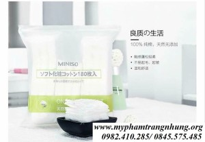 BÔNG TẨY TRANG MINISO 180 MIẾNG ONLY THE PUREST
