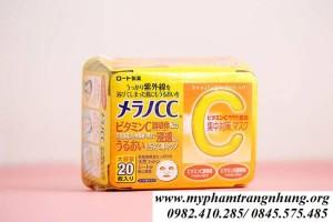 Mặt Nạ Dưỡng Da Nhật Bản Rohto CC Melano Mask Sheet 20Pcs