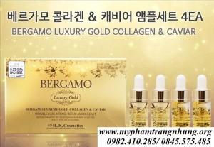 SET TINH CHẤT BERGAMO LUXURY GOLD COLLAGEN & CAVIAR (4 ỐNG)