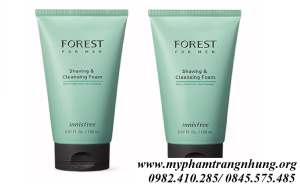 Sữa rửa mặt cho Nam Forest For Men Shaving & Cleansing Foam Innisfree