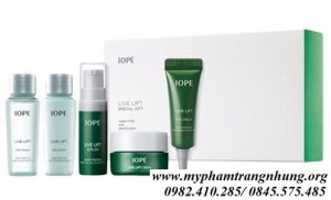 SET KIT DƯỠNG DA IOPE LIVE LIFT SPECIAL GIFT 5 ITEMS