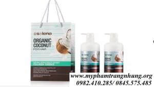 Bộ Dầu Gội-Xả Dừa Selena Organic Đặc Trị Rụng Mọc Tóc Phục Hồi Hư Tổn