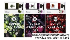 MẶT NẠ THẢI ĐỘC RAU CỦ SUPER VEGITOKS MASK