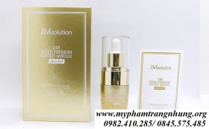 TINH CHẤT JM SOLUTION  24K GOLD PREMIUM  R-EFFECT AMPOUL SPECIAL 30ML