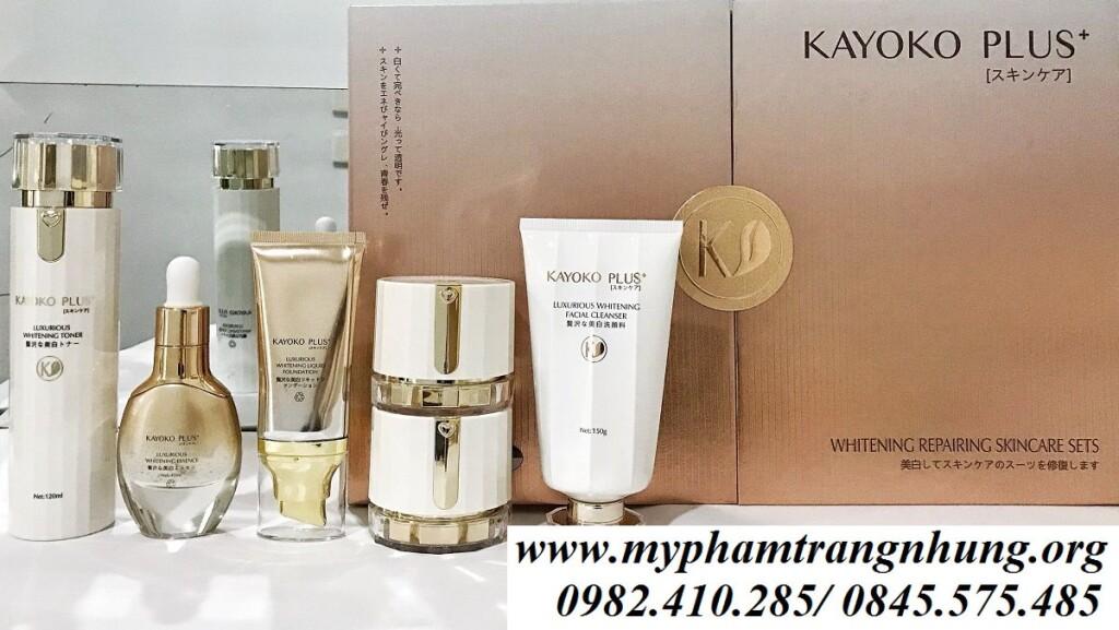my-pham-kayoko-plus+- nhat-ban-tri-nam-duong-trang-da-skincare-set